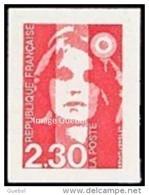 France Marianne Du Bicentenaire Autoadhésif N°    1 ** Ou 2630 - Briat Le 2.30 Rouge Non Dentelé - 1989-96 Marianne Du Bicentenaire