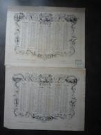 Calendrier 1841 2 Semestriels  Allégorie  Arabesque   Edit Paris DOPTER  MAI 2021 Class) - Groot Formaat: ...-1900
