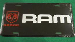 USA Famous Metal (tin) License Plate 'DODGE Ram' - Not Available In The EU - New - Plaques En Tôle (après 1960)