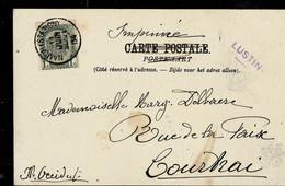 Carte-vue ( Vallée De La Meuse) Obl. Namur (Station) 1904 + Griffe De LUSTIN (en Violet) - Linear Postmarks