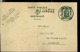 Entier Obl. Tournai 1936 + Griffe De LUINGNE - Langstempel