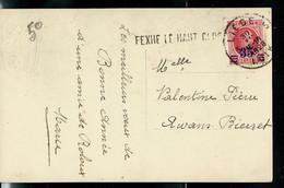 Carte Fantaisie ; Obl. Liège 30/12/1928  + Griffe De FEXHE LE HAUT CLOCHER - Langstempel