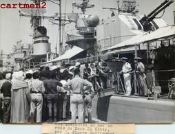 REVUE NAVALE MERS-EL-KEBIR PIERRE GUILLAUMAT MINISTRE DES ARMEES ALGERIE FLOTTE DE TOULON MARINE MILITAIRE BOAT SHIP - Boats