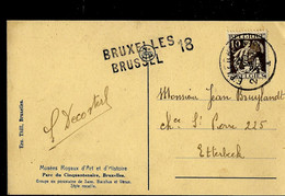 Carte Fantaisie ; Obl.  Etterbeek 1932  + Griffe De BRUXELLES - BRUSSEL 18 - Linear Postmarks