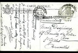 Carte Fantaisie ; Obl.  En Franchise Militaire  1919 + Griffe De BOURG - LEOPOLD - Langstempel