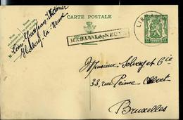 Entier ; Obl. Libramont 1936  + Griffe Encadrée De HABAY - LA - NEUVE - Langstempel