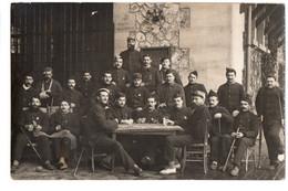 Carte-photo Hôpital Temporaire 86 De Castelsarrasin - Groupe De Militaires Blessés Jouant Aux Cartes - Guerra 1914-18