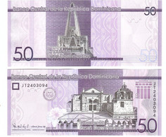 Dominican Rep - 50 Pesos Dominicanos 2019 ( 2021 ) UNC Lemberg-Zp - Dominicaanse Republiek