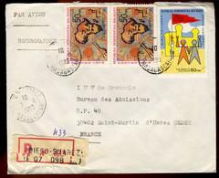 Madagascar - Enveloppe De 1980 Depuis Diégo-Suarez Vers La France - Par Avion - Recommandé - Madagascar (1960-...)