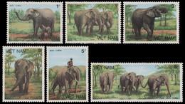 Vietnam 1987 - Mi-Nr. 1777-1782 (*) - Ohne Gummi Verausgabt - Elefanten / Elephants - Vietnam