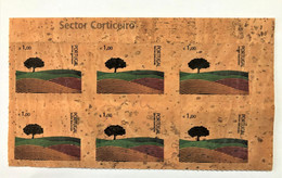 Portugal, Unused Stamps,  1 X 6 « Cork Stamp », « Sector Corticeiro », 2007 - Covers & Documents