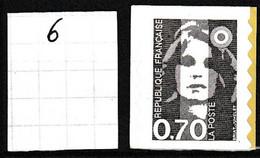 Marianne Du Bicentenaire 0.70 C Brun - Dentelure Verticale - Y&T N° 6 - NEUF - Sellos Autoadhesivos