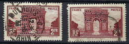 FRANCE 1929:   2 Nuances Du Y&T 258, Obl. CAD Et Perf. ('IND' Et 'CK') - Usati