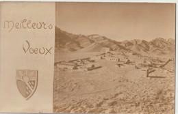 Photo Format Carte Sfissifa (Algérie) Meilleurs Voeux 1961 Du 1er Régiment De Chasseurs Vue Du Casernement Signé Poisson - Guerra, Militares