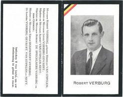 Doodsprentje Gesneuveld VERBURG Robert: ° Heist, 1921, + Zeebrugge, 21 Okt1944. Echtgenoot VAN STIPELEN. - Religion & Esotericism
