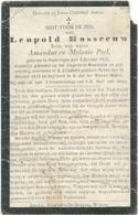 Doodsprentje ROSSEEUW Leopold: ° Poperinge, 1886, Gesneuveld De Panne, 15 Okt 1918. Zoon Amandus En Melanie Peel - Religion & Esotericism