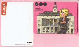 Bierviltje - Turnhout Cultuurstad 2012 - Kiekeboe Strip - Fanny - Stadhuis - R/V - Portavasos