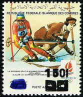 Comores Comoros - Local Overprint - Surcharge Locale 1994/95 - Olympic Games Ski - Mi 1092 Sc 800K MNH ** - Hiver 1992: Albertville