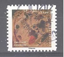 France Autoadhésif Oblitéré (Vassily Kandinsky - Dans Le Cercle N°1) (cachet Rond) - Gebruikt