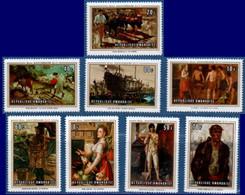 Ruanda 1969, ILO Labor Organisation 8 Stamp MNH 2105.2448 OIT Paintings Bonnevalle, Paulus, Meunier, Aertsen, Van Noten - ILO
