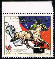 Comores Comoros - Local Overprint - Surcharge Locale - Jeux Olympiques Olympic Games Seoul - Mi 1078 Sc 804I MNH ** - Ete 1988: Séoul