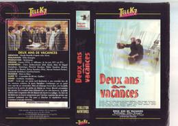 Jaquette Pour Boitier Video K7 Ou Recoupe Dvd Deux Ans De Vacances - Grangier - Unclassified