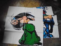 4 Supplements Poster  Spirou 2373 2374 2375 2376 Gaston Lagaffe Franquin Complet - Spirou Magazine