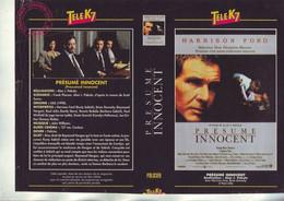 Jaquette Pour Boitier Video K7 Ou Recoupe Dvd Presumé Innocent - Alan J. Pakula - Unclassified