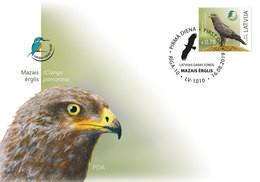 Eagle Latvia Lettland Lettonie 2019  Latvian  Bird Eagle Fdc - Lettonie