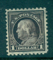 USA 1916-17 Sc#47 $1 Violet Black Franklin Perf 10 No Wmk FU Lot69108 - Unclassified