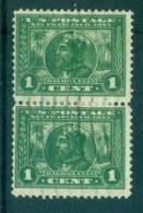 USA 1913 Sc#397 1c Panama-Pacific Exposition Perf 12 Pr FU Lot67289 - Unclassified