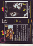 Jaquette Pour Boitier Video K7 Ou Recoupe Dvd Wolf - Avec Jack Nicholson - Unclassified
