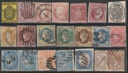 (1851ca) º ISABEL II. Lote De Veintiún Sellos - Oblitérés