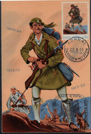 GREECE 1968, MAXIMUM CARD EVZONE, ZAPPEION POSTMARKS (MEGARON AND WAR HISTORY) - Cartoline Maximum