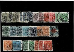 DENMARK ,francobolli Per Giornali E Di Servizio ,27 Pezzi Usati Anche Ripetuti ,qualita In Genere Ottima - Dienstzegels