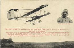 GRANDE SEMAINE D'AVIATION DE BORDEAUX MERIGNAC Du 9 Au 18 Sept 1910 BIPLAN H FARMAN  VAN DEN BORN - Fliegertreffen