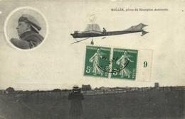 KULLER  Pilote Du Monoplan Antoinette + Timbre 5c X2 Bord Feuille (9)RV - Flieger