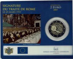 Luxembourg Coincard 2007 Traité De Rome - Luxembourg