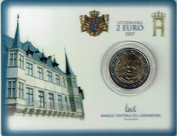 Luxembourg Coincard 2007 Palais Grand-Ducale - Luxembourg