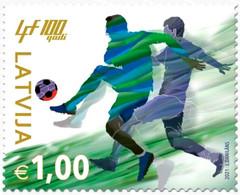 Latvia Lettland Lettonie 2021  Latvian Football Federation - 100 Years MNH - Lettonie