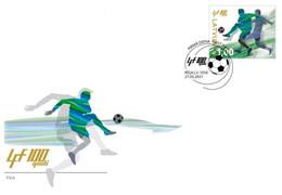 Latvia Lettland Lettonie 2021  Latvian Football Federation - 100 Years FDC - Lettonia