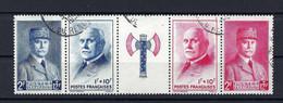 Frankreich Mi.581-584 Fünferstreifen Gestempelt Kat.11,-€ - Used Stamps
