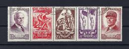 Frankreich Mi.589-593 Fünferstreifen Gestempelt Kat.80,-€ - Used Stamps