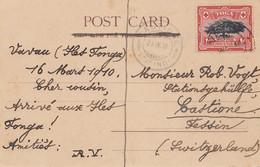 Toga: Post Card Neiafu Vavau 1910 To Castione/Switzerland - Tonga (1970-...)