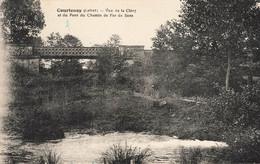 COURTENAY : VUE DE LA CLERY ET DU PONT DU CHEMIN DE FER DE SENS - Courtenay