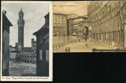 Siena Piazza Vittorio Emanuele 2 Cartoline Postale - Siena