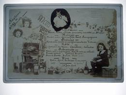 PHOTO GRAND CDV MENU BAPTEME DE MELLE HENRIETTE LE 25 JUIN 1905 - Antiche (ante 1900)