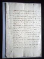 MANUSCRIT SUR PAPIER 8 PAGES RETRANSCRIPTION D UN ACTE DE 1480 SEIGNEURERIE DE JAVRON MAYENNE HENRY DE LA FAUGERE - Manuscripts