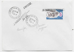 80C CAMBRESSIS LETTRE ANNULATION GRIFFE ST PARDOUX MORTEROLLES 23.227 + TAD 31.5.1977 CREUSE - Manual Postmarks