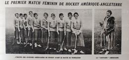 1920 HOCKEY SUR GAZON - FÉMININ - AMÉRIQUE = ANGLETERRE - 1900 - 1949